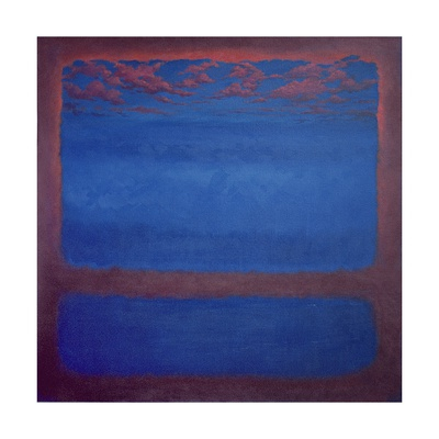 Ultramarine, 2001 Abstract Blue Giclee Print by Lee Campbell