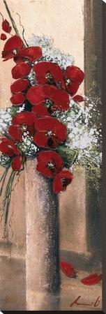 Bouquet d'Orchidees Rouges I Sträckt kanvastryck av Olivier Tramoni