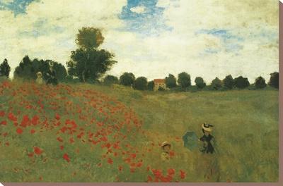 Rozen Kunst op gespannen canvas van Claude Monet