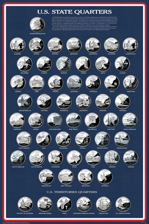 U.S. State Quarters Posters