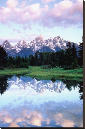 Grand Teton Stretched Canvas Print by Christopher Talbot Frank