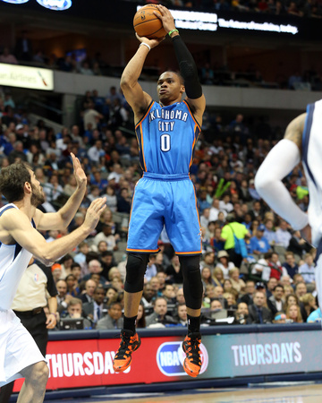 Mar 25, 2014, Oklahoma City Thunder vs Dallas Mavericks - Russell Westbrook Photo by Layne Murdoch