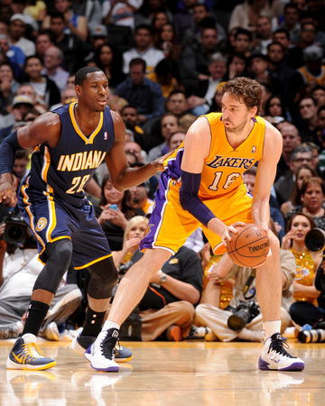 Jan 28, 2014, Indiana Pacers vs Los Angeles Lakers - Pau Gasol Photo by Noah Graham