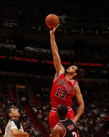 Feb 3, 2014, Chicago Bulls vs Miami Heat - Joakim Noah Photo by Issac Baldizon