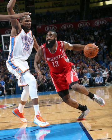 Mar 11, 2014, Houston Rockets vs Oklahoma City Thunder - James Harden Photo by Layne Murdoch