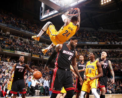 Mar 26, 2014, Miami Heat vs Indiana Pacers – Paul George Photo by Nathaniel S. Butler
