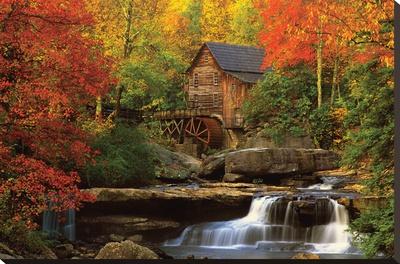 Die alte Mühle Bedruckte aufgespannte Leinwand