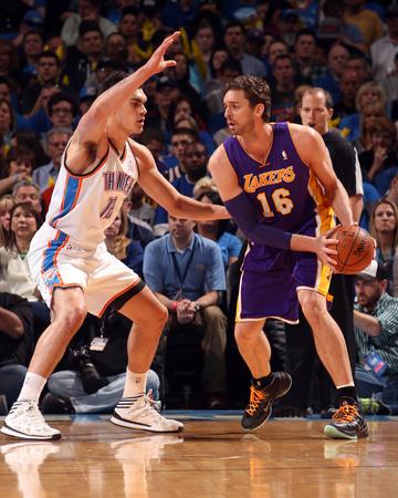 Mar 13, 2014, Los Angeles Lakers vs Oklahoma City Thunder - Pau Gasol Photo by Layne Murdoch