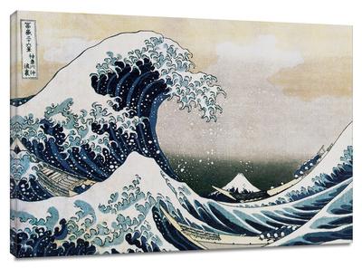 La gran ola Reproducción en lienzo de la lámina