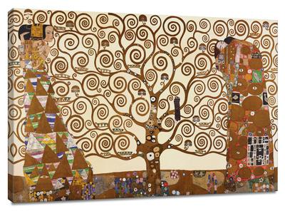 生命の樹(The Tree of Life、ストックレー・フリーズ) キャンバスプリント : グスタフ・クリムト