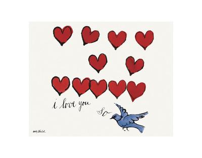 I Love You So, c. 1958 Plakater af Andy Warhol