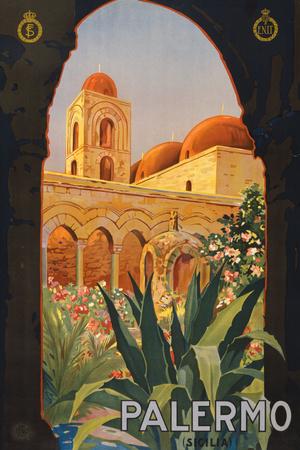 Palermo Sicily Tourism Travel Vintage Ad Prints