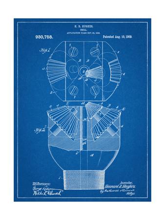Howard Hughes Drill, Oil Drill Patent Poster
