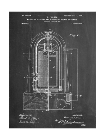 Recording Device Patent 1900 Prints
