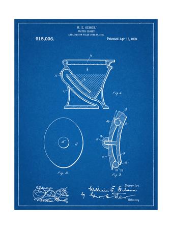 Water Closet Patent Print