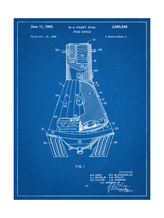 Space Capsule, Space Shuttle Patent Art