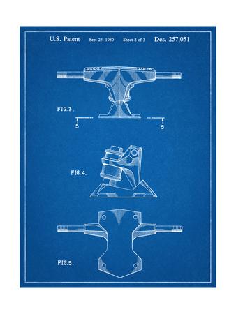 Skateboard Trucks Patent Prints