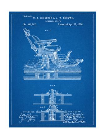 Dentists Chair Patent 1886 Prints