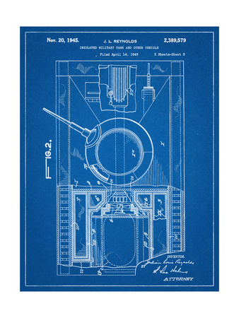 World War II Military Tank Patent Posters