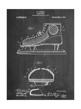 Hockey Shoe Patent Plakater
