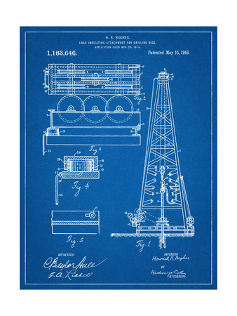 Drilling Rig Patent Posters