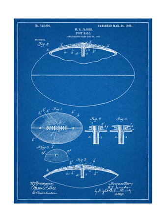 Football With Laces Patent Posters