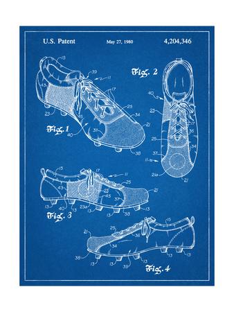 Soccer Shoes Patent Prints