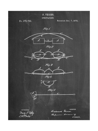 Spectacles, Glasses Patent Posters