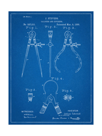 Caliper And Divider Tool Patent Prints