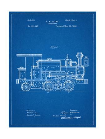 Train Locomotive Patent Prints