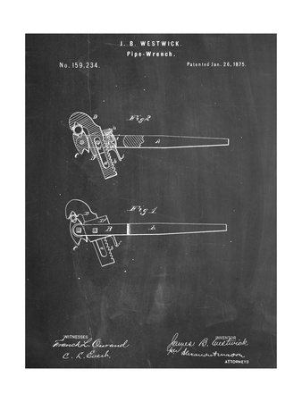Pipe Wrench Tool Patent Poster