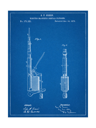 Dentists Drill Patent Art