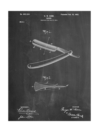 Shaving Razor Patent Prints