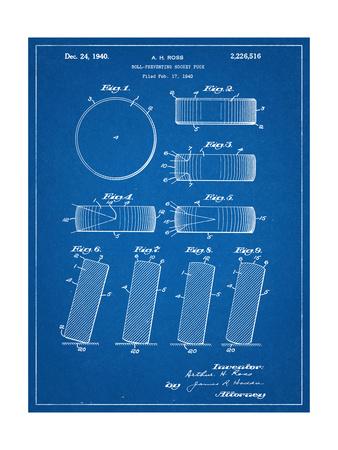 Hockey Puck Patent Prints
