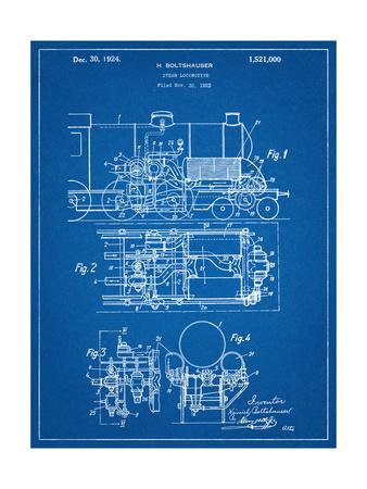 Steam Locomotive Patent Posters
