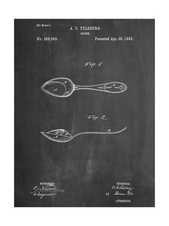 Dinner Spoon Patent Prints
