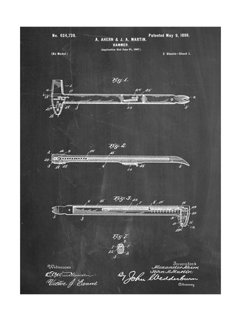 Vintage Claw Hammer Patent 1899 Posters