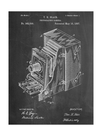 Photographic Camera 1887 Patent Poster