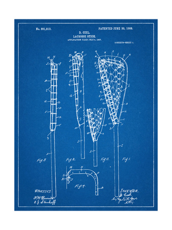 Lacrosse Stick Patent Poster