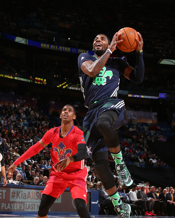 2014 NBA All-Star Game: Feb 16 - Chris Paul, Kyrie Irving Photo by Nathaniel S. Butler
