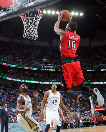 Mar 19, 2014, Toronto Raptors vs New Orleans Pelicans - DeMar DeRozan Photo by Layne Murdoch