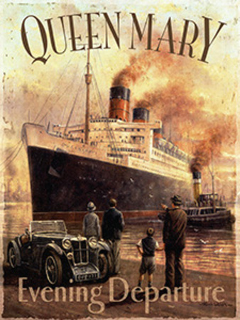 Queen Mary Tin Sign by Kevin Walsh