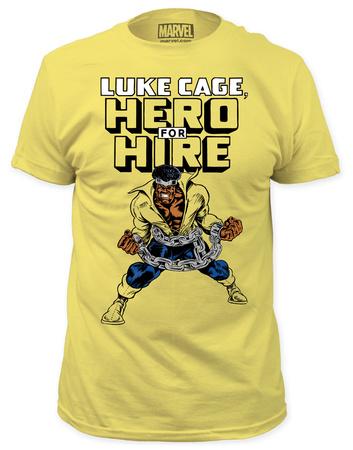 Luke Cage - Hero For Hire (yellow slim fit) Shirt