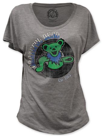 Juniors: Grateful Dead - Dancing Bear Est. 1965 (dolman) Shirt