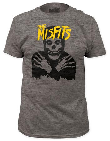 Misfits - Classic Skull Yellow Logo  (slim fit) T-Shirt