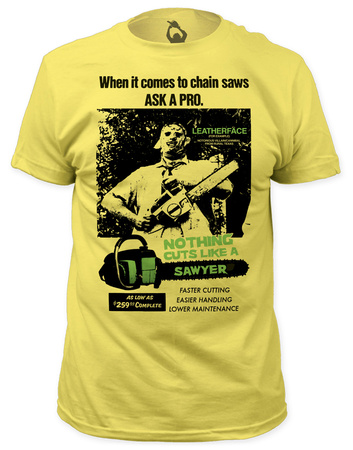 Texas Chainsaw Massacre - Cuts Like a Sawyer (slim fit) Camisetas