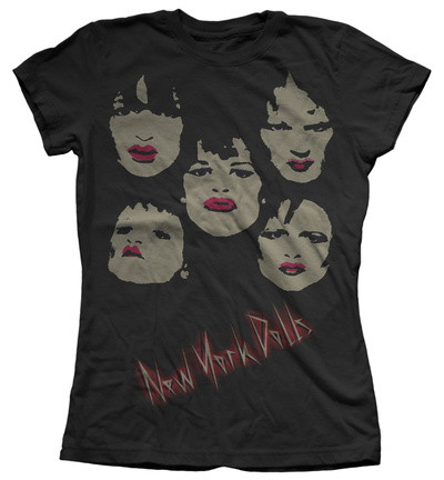 Juniors: New York Dolls - Faces T-shirts