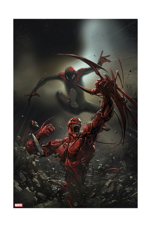 Superior Carnage 4 Cover Artwork: Spider-Man and Carnage