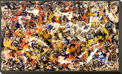 Convergence Framed Print Mount by Jackson Pollock