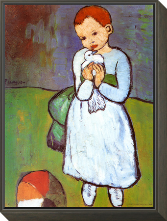 Child with a Dove, c.1901 Framed Print Mount by Pablo Picasso